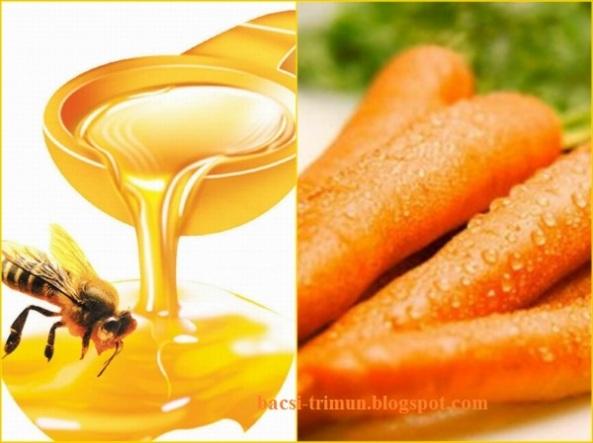Mật ong và cà rốt trị mụn cám tại nhà