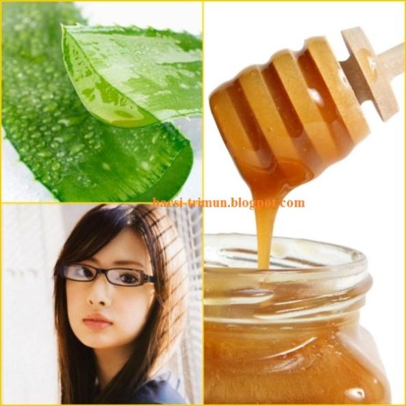 Kết hợp mật ong và thần dược nha đam trị mụn cám hiệu quả